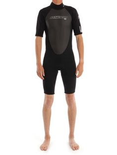 A picture of the O'Neill Reactor Spring Suit in Black/Black/Black