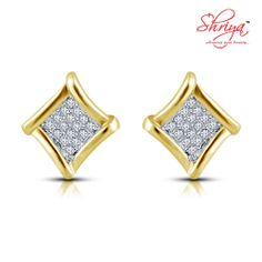 shriya Gold Plated Diamond Stud Earring
