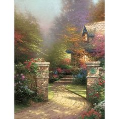 Rose Gate - Thomas Kinkade