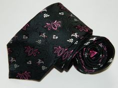 937523ad9077 Men's T.J. Jewin Floral Black Silk Neck tie made in China #fashion  #clothing #