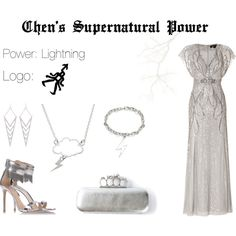 EXO Chen Supernatural Power Inspired Outfit by nanrelladu on Polyvore featuring Jenny Packham, Gianvito Rossi, Alexander McQueen, Ariella Collection and Nimbus