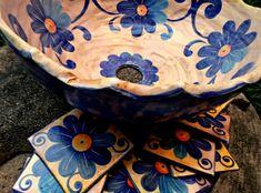 Wabi Sabi, Ceramic Birds, Mexican Style, Serving Bowls, Pottery, Plates, Tableware, Zentangle, Decorating