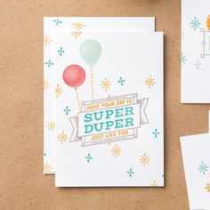 Super Duper Wood-Mount Stamp Set