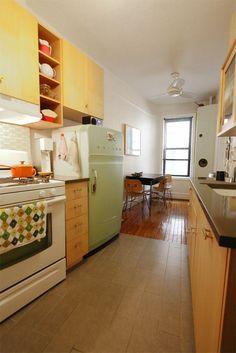 Phil and Annette's Prospect Park Home Linda casa, linda cozinha. Confortável e convidativa.