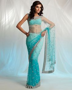 Bridal net saree