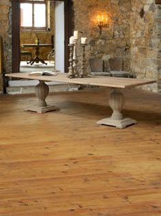 The Monastery Collection French Large Wooden Dining Table In A Natural Finish Generous Sized