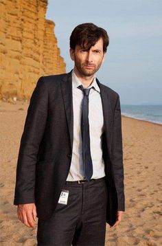 Tennant in Broadchurch. Anche in questa serie tv è fantastico! *_*