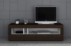 Contemporary Brown TV Unit