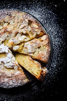 French apple almond cake Fragrant almond cake with custard-like bottom and crisp top with a variety of sweet and tart apples. This recipe is from Bake From Scratch magazine issue May/June But I did small alterations in the recipe below. Apple And Almond Cake, Almond Cakes, French Apple Cake, French Cake, French Toast, Almond Cake Recipes, French Almond Cake Recipe, French Food, Apple Recipes