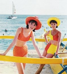 1960s Swimwear, 1960s Bathing suits, 1960s swimsuit, beach bums