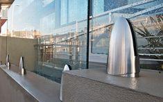 "Balustrada Inox cu sticla securizata si laminata, cu fixare fara montanti, avand prinderi tip ""scoica"" | 0720.484.274. Mai multe modele pe InoxConstanta.ro Bathtub, Mai, Bathroom, Standing Bath, Washroom, Bathtubs, Bath Tube, Full Bath, Bath"