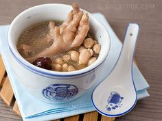 Chicken Feet & Peanuts Soup (aka collagen soup) ~ good for your skin and general well-being ~ can wait to serve this to my grandson with the chicken feet ~