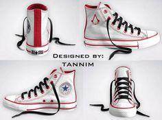 Custom Assassin's Creed Converse Chucks by Tannim on Etsy, $115.00