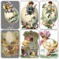Vintage Easter diecuts