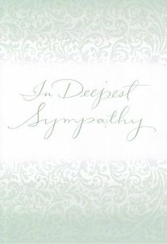 "Greeting Card Sympathy ""In Deepest Sympathy"" by Greeting Cards - Sympathy. $1.99. Greeting Card Sympathy ""In Deepest Sympathy"" remembering you in thought and asking god to bring you comfort and strength in this difficult time."