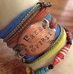 Boho bracelet, esprit libre, Silk wrap bracelet wrap, Free spirit, Silk Wrap Bracelet Boho, yoga wrap-soie ruban bracelet-