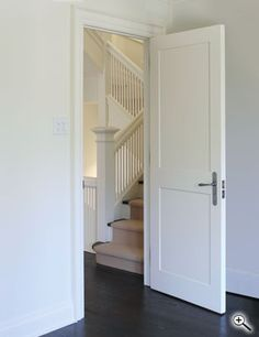 Interior Doors | White Two Paneled Interior Door | Bayer Built Woodworks