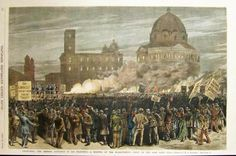 July 23, 1877: Anti-Chinese nativist agitators at a huge outdoor rally in San Francisco about the economic depression and unemployment organized by the Workingmen's Party of the United States incite a two-day riot of ethnic violence against Chinese workers, resulting in four deaths and the destruction of property. Five years later, President Chester Arthur signed the federal Chinese Exclusion Act, prohibiting immigration of Chinese laborers.