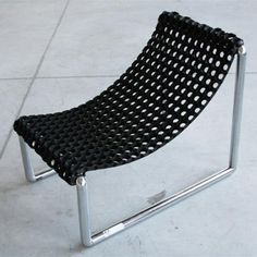 A DIY armchair (sans arms).  Maybe with fabric though, not a rubber mat?