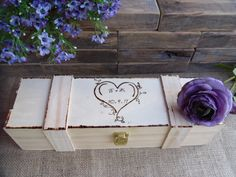 I want to try to make this with my wood burner!  Wedding Wine Box Woodburned and Personalized by willowroaddesigns, $30.00