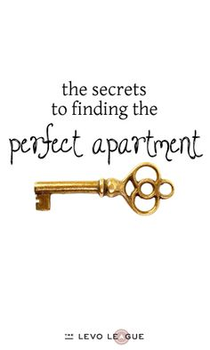It's Mine!: How to Find the Perfect Apartment, Part 1 ~ Levo League