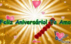 Mensagem de Aniversário - Para o amor da sua vida Poster, Happy Birthday Sms, Anniversary Message, Positive Messages, Life, Billboard
