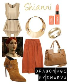 """Dragon Age - Shianni"" by dwarva ❤ liked on Polyvore featuring Madewell, Yves Saint Laurent, AERIN, Blue Nile and NYX"