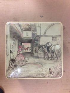 Vintage Huntley Palmers Biscuits TIN Made IN England Horses | eBay