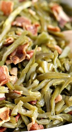 Crock Pot Bacon Green Beans