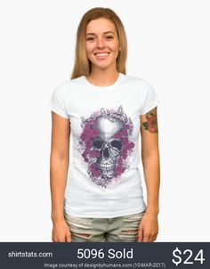 Old school skull and roses.