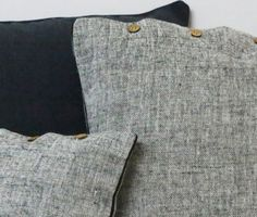 Heather Black Cushion Covers