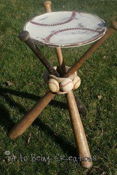 Baseball Bat Table- for Logan and Cameron.
