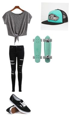 """Cute skater girl"" by miavako on Polyvore"