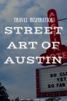How does Austin keep it weird? A thriving art scene!And where there are  artists, expect street art to adorn buildings! After being there a few  days, I realized the roads always seem to be backed up or crowded,so early  one morning I wandered around to explore the street art at dawn.
