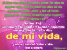 """JESUS PODEROSO GUERRERO: Salmos 23:6~~~"""" Amor de Dios todos los dias """""""