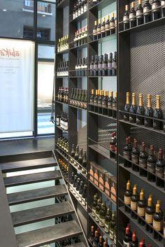 Wine wall Obikà Brera - Milan - Italy