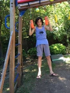 American Ninja Warrior training is sweeping the nation! Here we have Andrew Owens on his backyard ninja course working the forearm strength! Atomik Pipe Bombs are the perfect training device for building grip strength: https://www.atomikclimbingholds.com/search?q=pipe+bombs