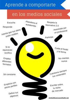 Aprende a comportarte en las Redes Sociales #infografia #socialmedia