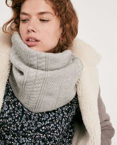 Bufanda cerrada 100% lana Light grey Dozer