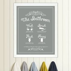 Guide to Procedures The Laundry Room print by letteredandlined