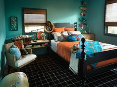 Inspired by Disney·Pixar's beloved film Toy Story, the children's bedroom in  vibrant color palette