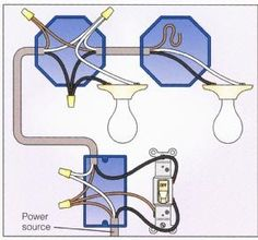 wiring diagram for multiple lights on one switch | Power Coming In At Switch - With 2 Lights In Series
