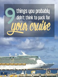 9 Things You Probably Didn't Think to Pack for Your Cruise. Honeymoon Cruise Tips Packing List For Cruise, Cruise Travel, Cruise Vacation, Vacation Trips, Vacation Ideas, Vacation Destinations, Packing Lists, Cruise Checklist, Honeymoon Cruises
