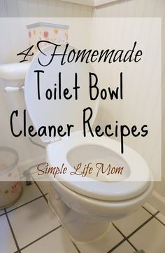 Homemade Toilet Bowl Cleaner Recipe that is All Natural! Get rid of toxins and use a homemade recipe. Use baking soda, vinegar, and essential oils, plus.