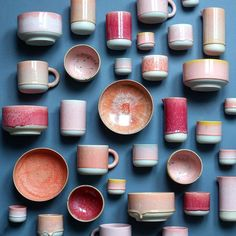 Colorful pottery collection
