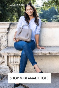 The Amalfi Midi Ruched Tote is the smaller version of the Amalfi open tote. This medium size tote is very lightweight and versatile and will fit your daily essentials, such as wallet, phone, water bottle, a book, make-up pouches and a tablet without weighing you down. Join our tribe today and get 10% off your first order at alexandradecurtis.com/join