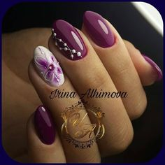 Installation of acrylic or gel nails - My Nails Trendy Nail Art, Stylish Nails, Fingernail Designs, Nail Art Designs, Cute Nails, Pretty Nails, Hair And Nails, My Nails, Glam Nails