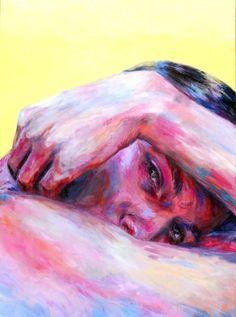 Maxime Cousineau-P̩russe - Golden Fruit, Painting, Acrylic on Canvas - - Maxime Cousineau-P̩russe РGolden Fruit, Painting, Acrylic on Canvas Art Aesthetic Painting, Aesthetic Art, Acrylic Painting Canvas, Canvas Art, Acrylic Portrait Painting, Acrylic Painting Inspiration, Diy Canvas, Painting Abstract, Painting Art