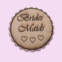 Wooden Bridesmaid Badge for weddings Cape Town South Africa - Polkadot Box Wedding Badges, Wedding Cape, Cape Town South Africa, Wedding Accessories, Polka Dots, Bridesmaid, Weddings, Bridal, Box