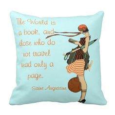 The World is a book Pillow